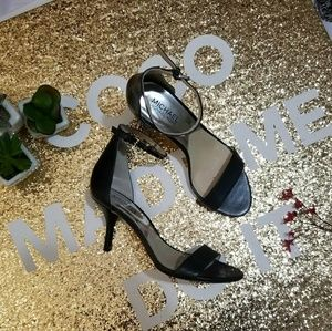 Michael Kors Kristen Mid Black Leather Heels